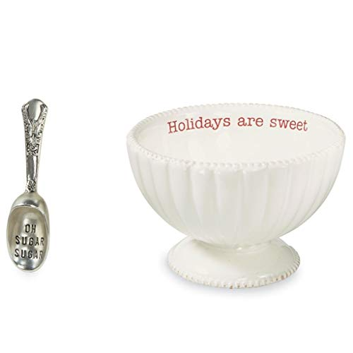 Mud Pie Circa Holiday Christmas Holiday Candy Dish & Scoop (SWEET)