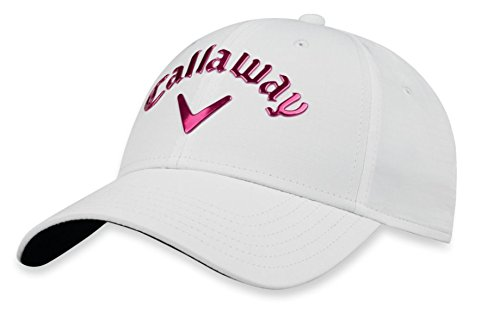 Callaway 2018 Liquid Metal Cap Ladies White/Pink Adjustable ()