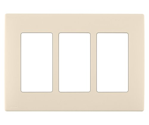 Leviton REWP3-GC Renu Three-Gang Screwless Snap-On Wallplate, Gold Coast - Outlet Coast Gold