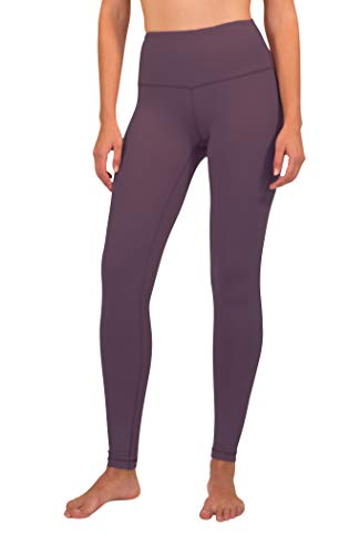 90 Degree By Reflex - High Waist Power Flex Legging – Tummy Control - Dusky Orchid - Medium
