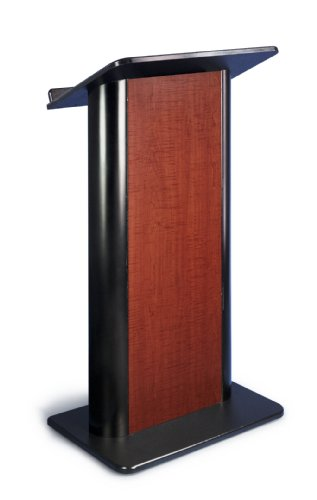 Sippling Seattle Java Contemporary Lectern with Black Anodized - Aluminum Anodized Lectern