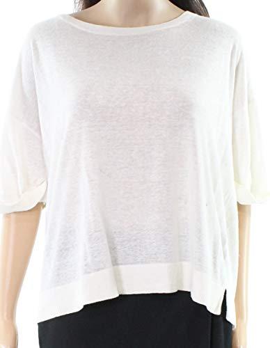 Cardigan Lauren Cashmere - Lauren Ralph Lauren Womens Tab Sleeve Crewneck Pullover Sweater Ivory L