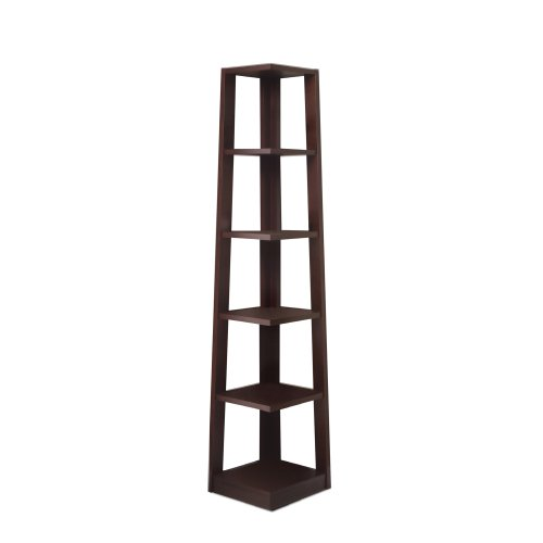 Poundex Modello Book Shelf, Walnut