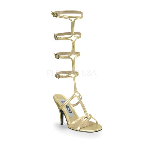 Funtasma by Pleaser Women's Roman-10 Sandal,Gold Pu,9 M US Sexy Gold Pu Women Shoes