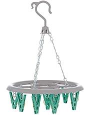 Mini Varal Redondo com 16 Prendedores na Verde, LAV6810, Flash Limp