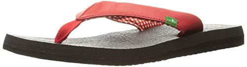 Sanuk Women's Yoga Mat Flip-Flop (42 M EU / 11 B(M) US, Bright RED)