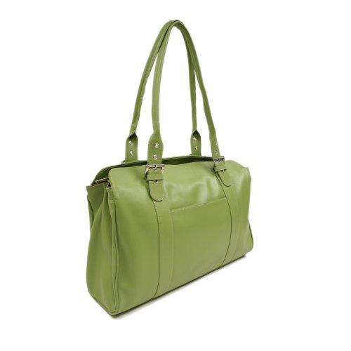 Piel Leather Ladies Buckle Laptop Tote, Apple, One Size