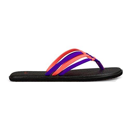Sanuk Flop Liberty Yoga Tropical Flip Women's Salty Papaya vwBrnqvIWY