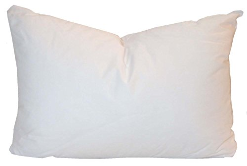 Pillowflex Synthetic Down Pillow Insert for Sham Aka Faux / Alternative (12 Inch by 18 Inch) Boudoir Pillow Cover