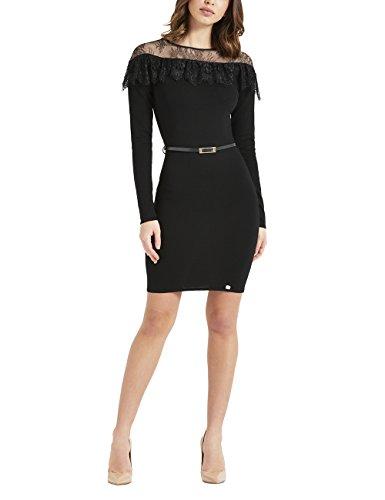 fd55232c4497 Lipsy Damen Kleid mit Spitzenbesatz und Bindegürtel Schwarz 263jhLB ...
