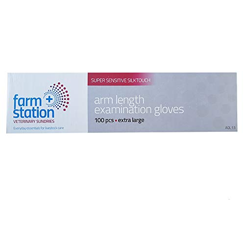 PLG//100 Box of 100 Polythene Arm Length Veterinary Disposable Gloves