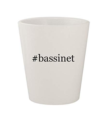 #bassinet - Ceramic White Hashtag 1.5oz Shot Glass