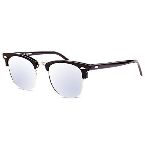 Star vintage Couleur un unisexe homme séparateur Lunettes soleil soleil frame B lunettes de boîte pour de de petite film circle avec qCcwwI7OX