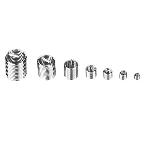 Thread Repair Insert 60pcs M3-M12 Stainless Steel SS304 Coiled Wire Helical Screw Thread Inserts