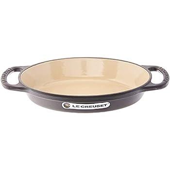 Le Creuset LS2088-20ML Enamel Cast Iron, 5/8Qt, Black Signature Oval Baker Matte Licorice, 5/8 quart