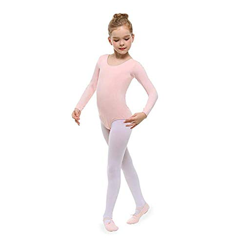 2 Pack Ballet Tights Girls Toddler Dance Tights Ultra Soft Pro Footed Daily Tights for Student Training Class School Outfits