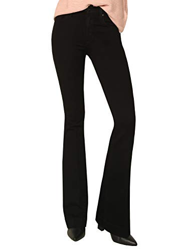 James Jeans Women's High Rise Shayebel Trouser Flare Jeans in Black Swan - Size 25 ()