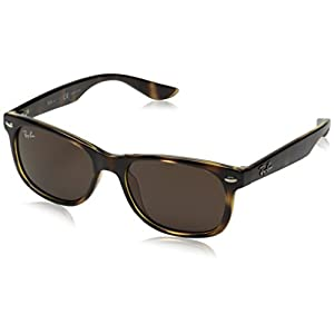 Ray-Ban Unisex-Child 0rj9052s 0RJ9052S Wayfarer Sunglasses, HAVANA, 47 mm