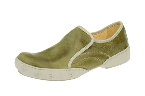 Eject Men's Eden Sena Dark Green Real Leather Slip on Brogue Green - GREEN 3yvcjRcHm