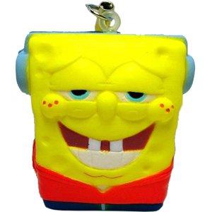 Spongebob Squarepants Soft Squeeze Charm Strap Figure Nickolodeon - One Spongebob (Headphones)