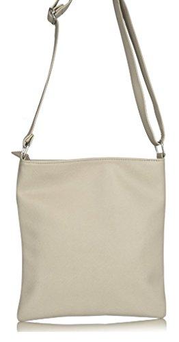 Flap Grey Over Trendy Bag Crossbody Women's fw5q77