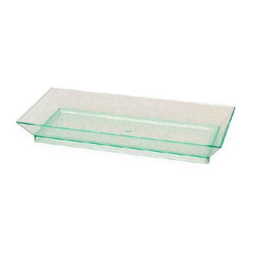 - Klarity Rectangular Transparent Green Dish (Case of 50), PacknWood - Recyclable Plates for Serving (5.3