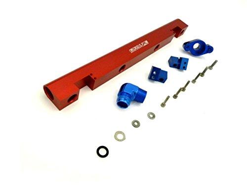 OBX Performance Aluminum Fuel Rail Kit 05-07 Chevy Cobalt SS SC Supercharge 2.0L Manual RED ()