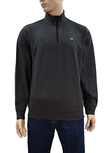 Vineyard Vines Men's Broadfield 1/4 Zip Solid Sweater (Small, Jet Black) - Jet Embroidered Sweatshirt