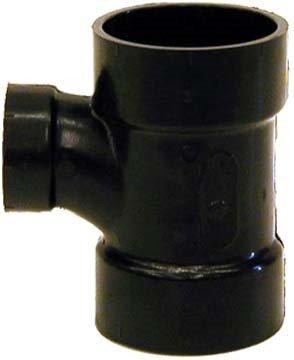 Genova Products 81121 ABS-DWV Reducing Sanitary Tees, 2