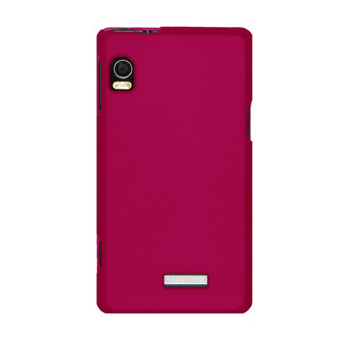 Snap A955 (Amzer Rubberized Snap-On Crystal Hard Case for Motorola DROID 2 A955 - Hot Pink)
