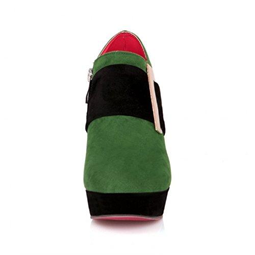 Charm Fot Kvinna Plattform Hög Klack Boots Green