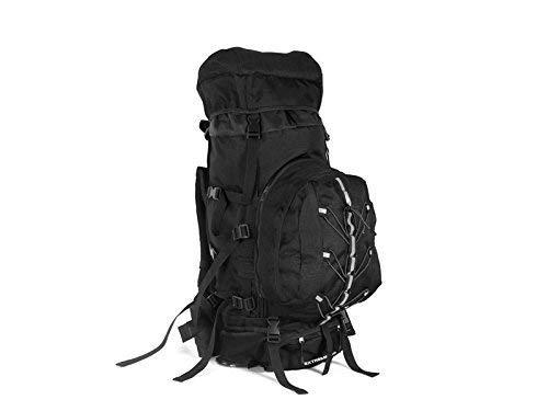 YChoice 軽量 ハイキング 旅行 バックパック アウトドア インドア 大容量 ハイキング クライミング バッグ 80L アウトドア 登山 バックパック (ブラック)   B07LF69PJ4