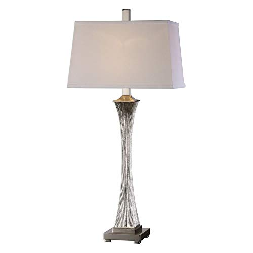Uttermost Vella Silver-Champagne Leaf Metallic Table Lamp