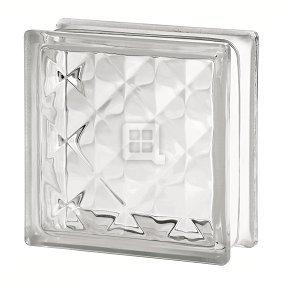 Quality Glass Block 7.5 x 7.5 x 3 Basic Pyramid Glass Block