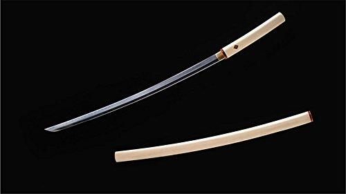 Sakabato Reversed-Edge Shirasaya Katana Japanese Sword 1095 Steel Clay Tempered Light Cutting-Ryan1218
