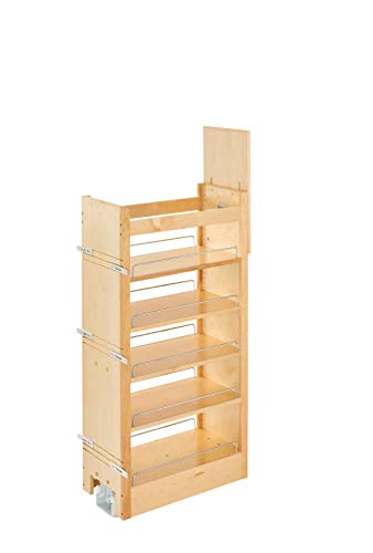 (Rev-A-Shelf 11 in W X 43 in H Wood Pantry Pullout Soft Close, Natural)
