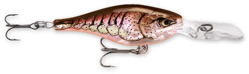 Rapala Glass Shad Rap 04 Fishing lure, 1.5-Inch, Glass Brown Crawdad