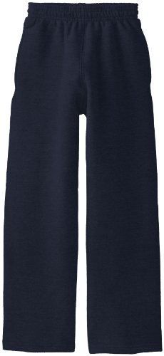 Soffe Big Boys' Open Bottom Heavy Weight Pocket Sweatpant, Navy, - Bottom Open Sweatpant Heavyweight