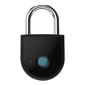 31lmNEI9FyL. SS300 Waroomss W10 Bluetooth Smart Fingerprint Lock,Lucchetto di Impronte Digitali Impermeabile Keyless Lucchetto Interno/Esterno per Porte per Porta, Valigia, Zaino, Palestra, Bici, Ufficio