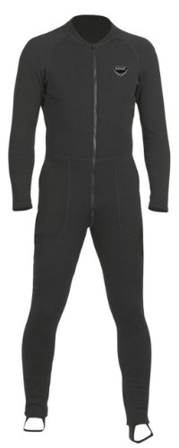 SEAC Unifleece Insulating Undergarment Dry Suit, Black, X-Small by SEAC