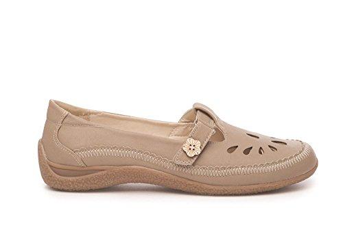 Komfort Womens Flat Taupe Pumps Skole Sko Kontorarbeid Sheila Klassiske Damer Dusk Uformell Loafers SRRO4IxA