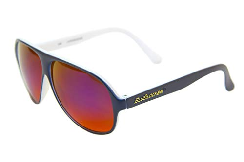 e54fd5348e Navy Blue Matte Outside White Inside With Blue Mirror Aviator BluBlocker –  2690K