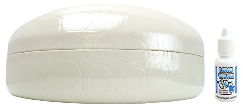 Coach Sunglasses Case | White (XL) | Free Lens Wash Cleaning ()