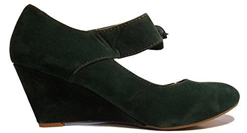 3 w Verde Material Mujer hohenlimburg De Zapatos Tacón Sintético rZrfq