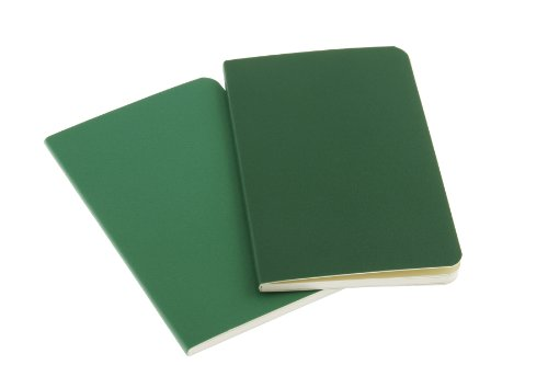 Moleskine Volant Notebook (Set of 2), Extra Small, Plain, Emerald Green, Oxide Green, Soft Cover (2.5 x 4) by Brand: Moleskine (Image #2)