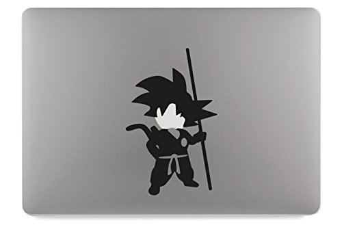 Son Goku Körper Body DragonBall Apple MacBook Air Pro Aufkleber Skin Decal Sticker Vinyl (13