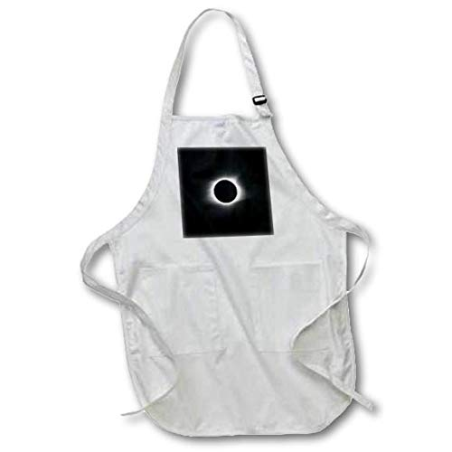 3dRose Stamp City - Nature - Photograph of The August 21, 2017 Solar Eclipse Over South Carolina. - Medium Length Apron with Pouch Pockets 22w x 24l (apr_291305_2)
