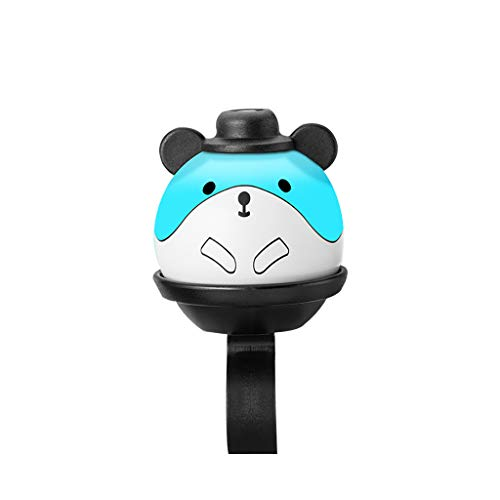 Gotian Children Cartoon Cycling Handlebar Adjustable Bell Ring Horn Sound Alarm Loud Ring Safety 360 Degree Rotation Design Bicycle Handle Bar Ring (Blue)