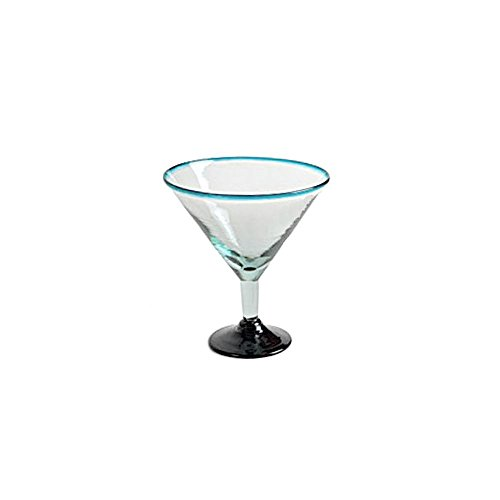 Orion Trading G808-QR 32 Oz. Jumbo Turquoise Rim Margarita Glass by Orion Trading & Design