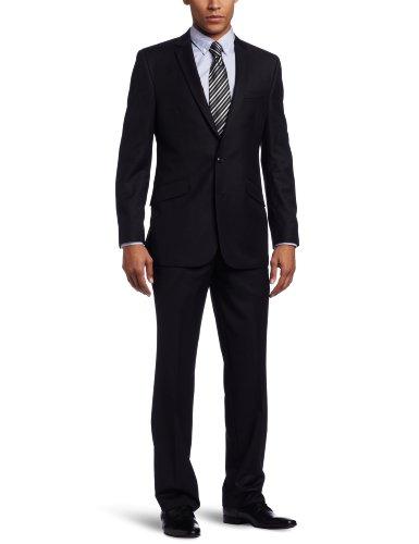 Kenneth Cole REACTION Men's 2 Piece Suit, Dark Blue, 42 Long